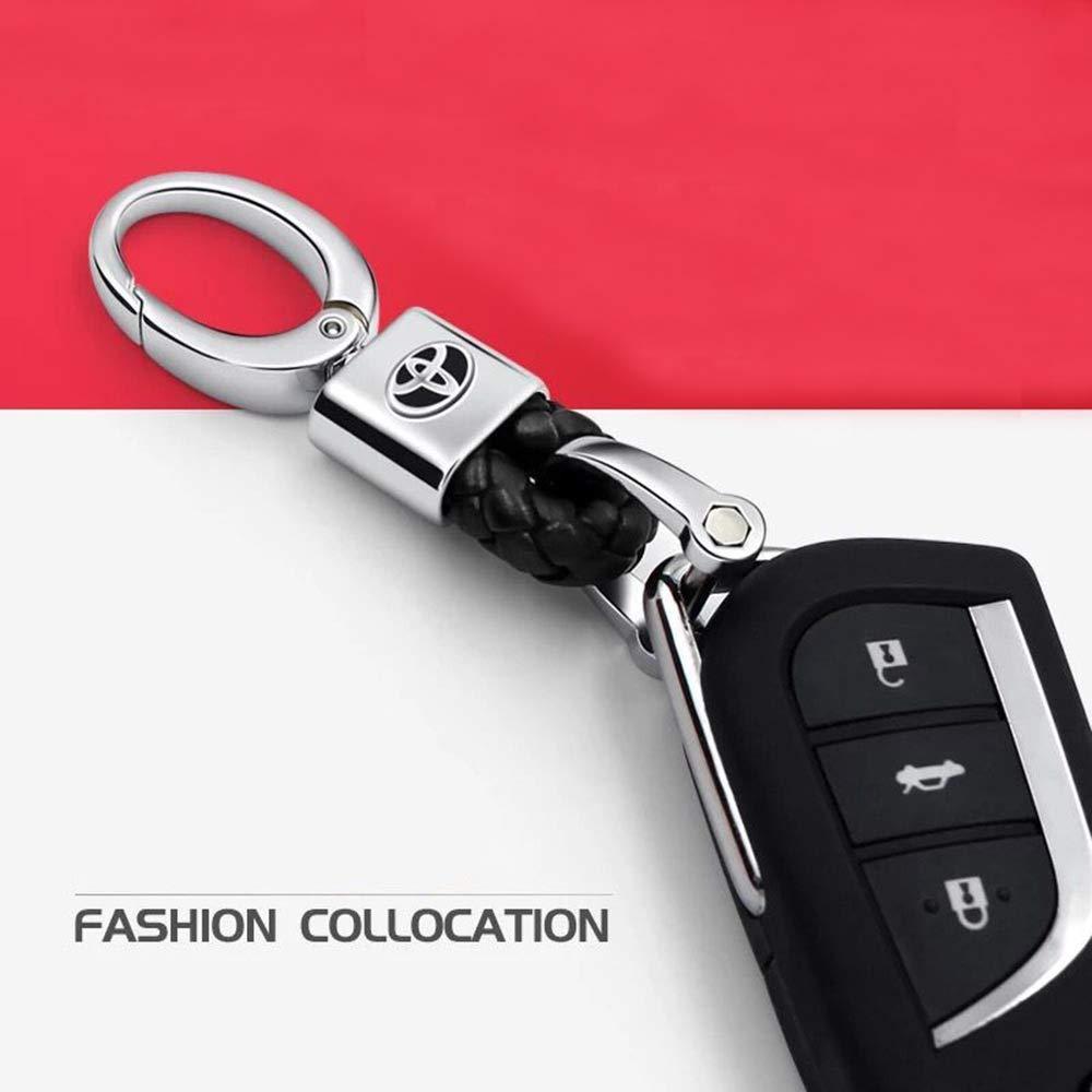 VILLSION 2PCS Cuir v/éritable Honda Porte-cl/és Accessoires Voiture Porte-Clef
