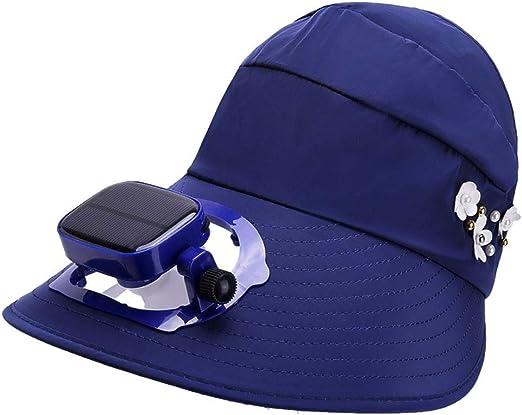 MYXMY Atmósfera Elegante con Ventilador al Aire Libre Sombrero ...