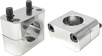 Moto Elevadores de Manillar Abrazaderas para 28mm Manillares//Barras Gruesas 20mm Subir Pulido