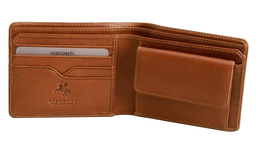 Visconti VICENZA VCN-19 Leather Classic Medium size Bifold Wallet with Coin Purse VCN19