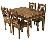 Jali Solid Sheesham Indian Rosewood 1.35 CM Dining Table/Solid Rosewood Dining Table ONLY/Dining Room Furniture