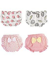 October Elf 4-Pack Baby Underwear Toddler Training Pants Combed Cotton Diaper Covers