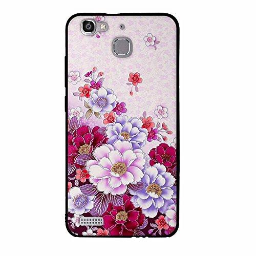 Funda Huawei Enjoy 5s GR3 G8 mini, FUBAODA [Flor rosa] caja del teléfono elegancia contemporánea que la manera 3D de diseño creativo de cuerpo completo protector Diseño Mate TPU cubierta del caucho de pic: 04