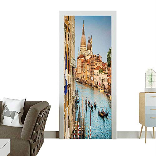 oor Murals Canal Grande di Santa Maria Della Salute at Sunset in Venice Easy to Clean and applyW38.5 x H77 INCH ()