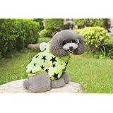 Lovely Pet Costume Green five-star two-leg fleece pet dog clothes,XL-MEELU