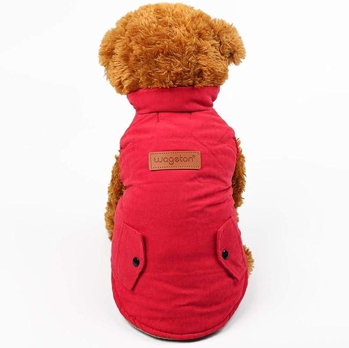 Kevinliu Chaqueta perro sólido ropa caliente for mascotas ...