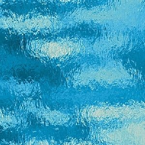 (Spectrum Sky Blue Cathedral Rough Rolled Stained Glass Sheet - 8