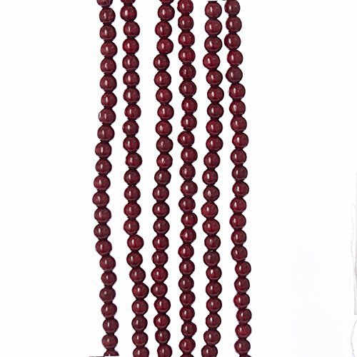 (Kurt Adler 9-Foot Burgundy Wooden Bead Garland)
