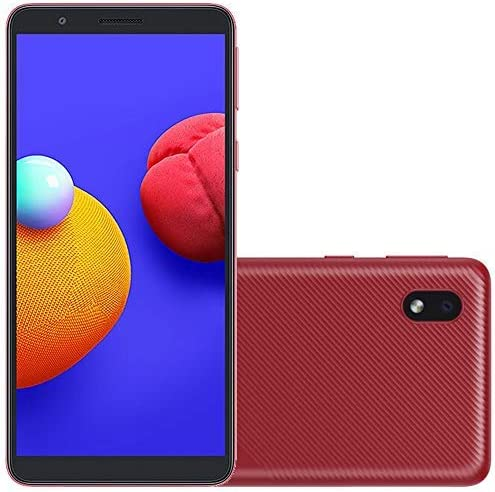 Samsung Galaxy A01 Core (16GB) 5.3″, 3000mAh Battery, Android 10, Dual SIM GSM Unlocked Global 4G LTE (T-Mobile, AT&T, Metro, Straight Talk) International Model A013M/DS (64GB SD Bundle, Red)