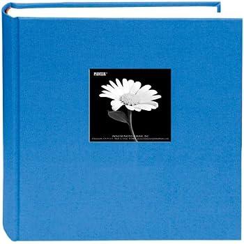 Fabric Frame Cover Photo Album 200 Pockets Hold 5x7 Photos, Sky Blue
