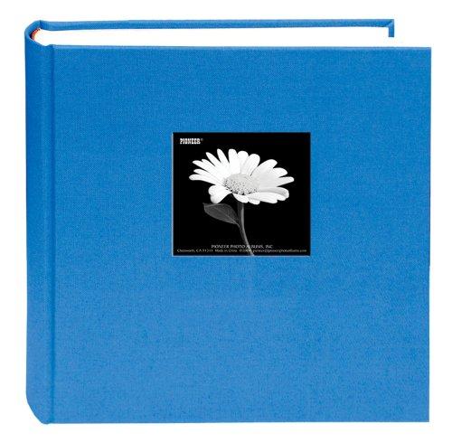 Frame 200 Pocket - Fabric Frame Cover Photo Album 200 Pockets Hold 5x7 Photos, Sky Blue