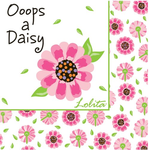 CR Gibson Lolita Design Cocktail Beverage Paper Napkins ~ Ooops-a-Daisy 20ct