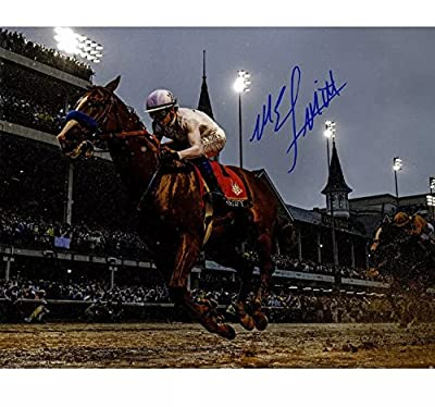 Mike Smith Autographed Signed Justify Kentucky Derby 16x20 Photo