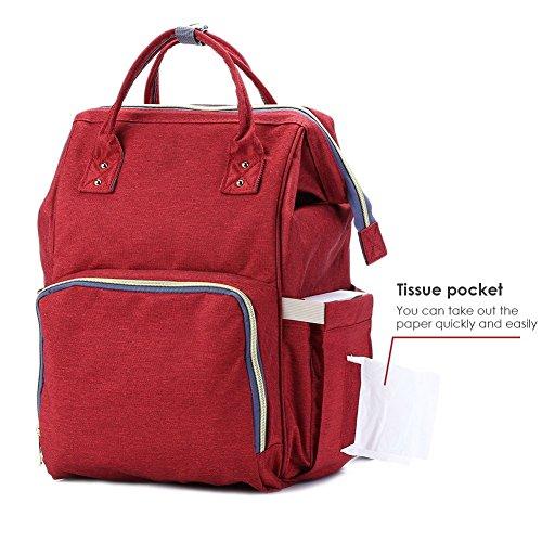 Najer pañal Mochilas todo en uno práctico bebé bolsa de pañales con bolsillo separado azul azul rosso