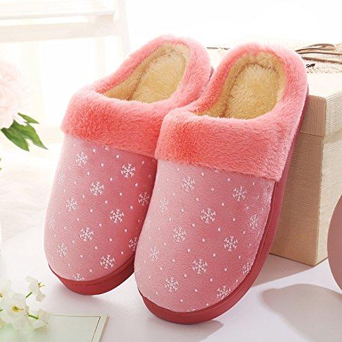 Cotone habuji uomini d'inverno del sacchetto con cotone pantofole extra grande dimensione plus home scarpe di cotone Paolo, 39-40, rosa