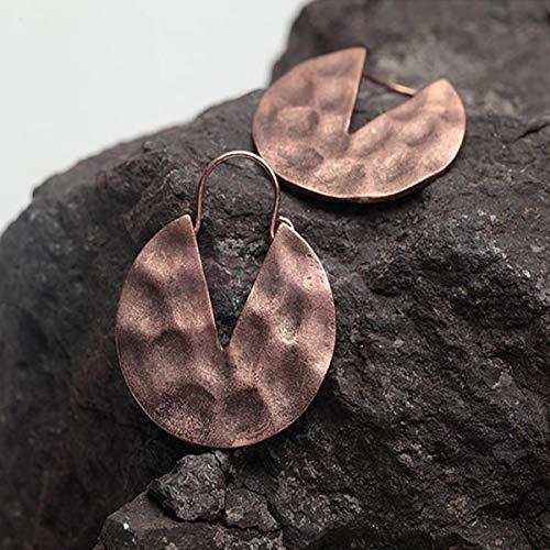 (1 pair Silver Gold Drop Disc Earrings Women Girl Vintage Hoop Earrings Jewelry)