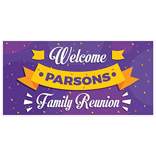 Welcome to Family Reunion Banner Personalized Backdrop Decoration]()