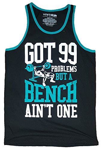 Fashion Got 99 Problems But A Bench Ain't One Black Tank Top - X-Large (99 Problems But A Bench Aint One)