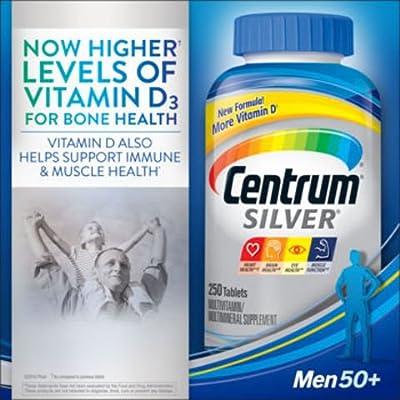 Centrum Silver Multivitamin Supplement, Men 50+, er1re Pack of 3 (250 Count )
