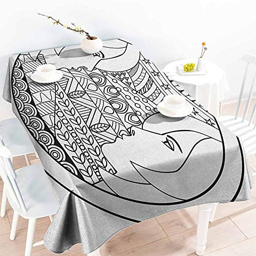 Zodiac Gemini,Table Covers Ornamental Circle Design with