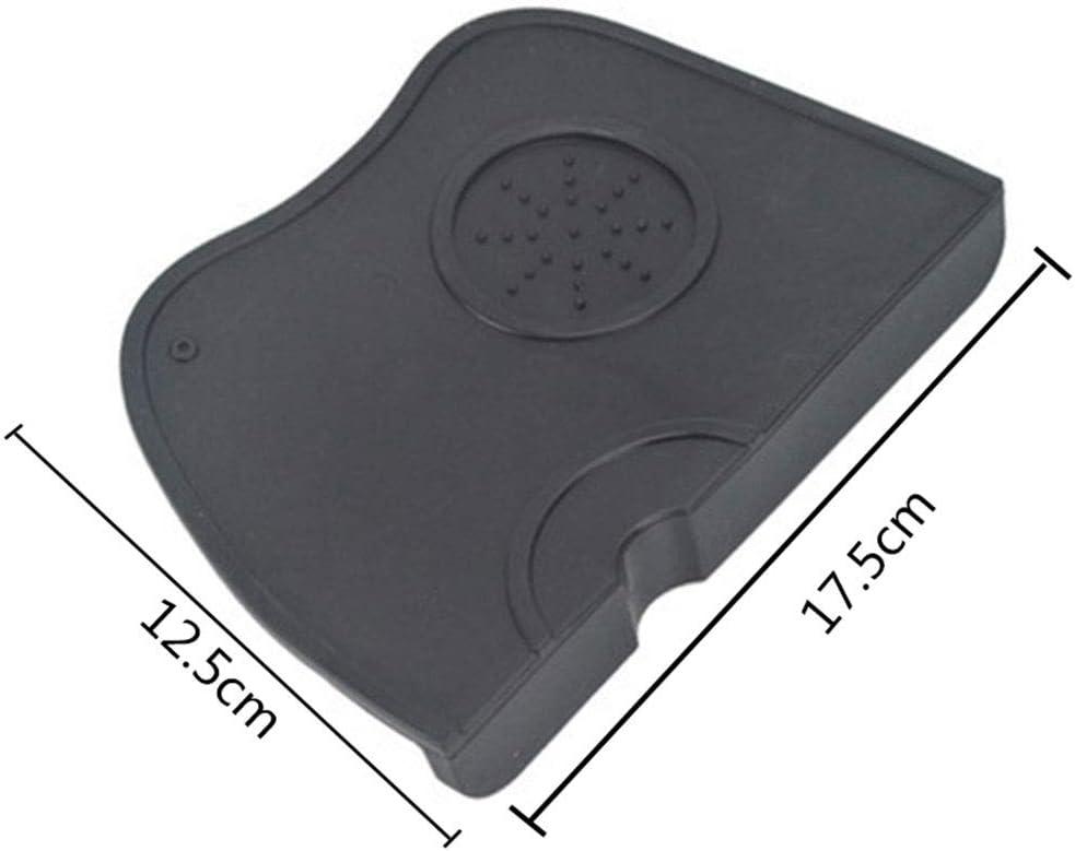 caf/é gruesa resistencia al desgaste antideslizante KKTICK Alfombrilla de apisonamiento de caf/é negra soporte de silicona multifunci/ón