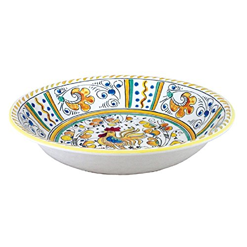 (Le Cadeaux 134RY Salad Bowl Rooster Yellow, 13.8 inches,)