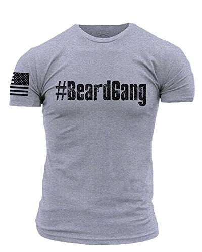Grunt Style ACAL - #beardgang Men's T-Shirt, Color Heather Grey, Size Large by Grunt Style