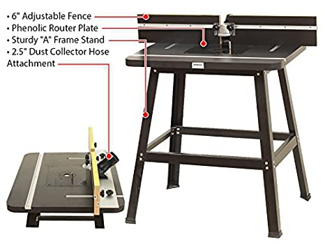 Yonico 21033 deluxe router table fence and stand kit amazon greentooth Image collections