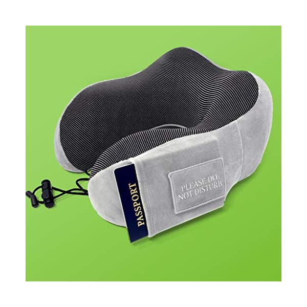 Pinacam-Products-Easy-to-USE-Travel-Neck-Pillow-100-Memory-Foam-to-Relax-and-Support-Head-Neck-Includes-Washable-Pillowcase-Bag-Eye-Mask-Earplugs-Removable-Velcro-Design-to-Stop-Distractions-6
