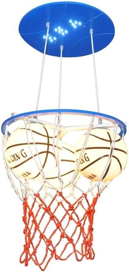 Dcqao Personalidad Creativo Baloncesto LED Lámparas Colgantes Moda ...