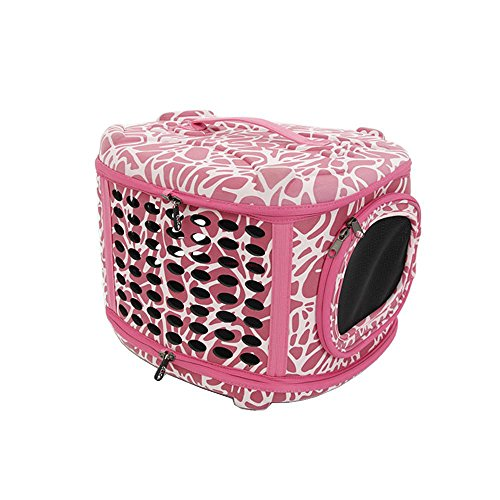 CUPET Pet Travel Carrying Bag, Portable Collapsible Pet Dog Carrier Shoulder Bag Foldable Outdoor Traveling Handbag Training Package for Dogs and Cats Puppy Rabbit (Pink, Hand Pet Bag) For Sale