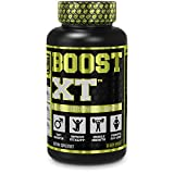 Boost-XT Testosterone Booster for Men - Boost Energy, Strength, Fat Loss, Libido - Natural Test Booster & Muscle Builder with Primavie Shilajit, Forskolin, More - 60 Veggie Pills