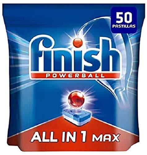 🥇 Finish Powerball All in 1 Max – Pastillas para el lavavajillas todo en 1 – formato 50 unidades