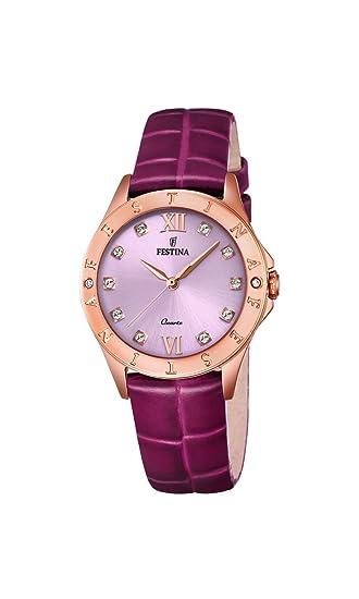 Festina Reloj Análogo clásico para Mujer de Cuarzo con Correa en Cuero F16930/B: Amazon.es: Relojes