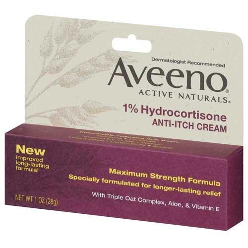 Aveeno 1% Hydrocortisone Anti-Itch Cream, Tube Anti-Itch 1 Oz Box -- 24 per case.