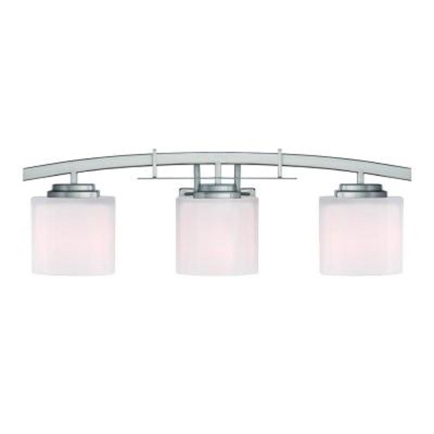 Hampton Bay 15041 Architecture 3 Light Brushed Nickel Vanity Com Industrial Scientific