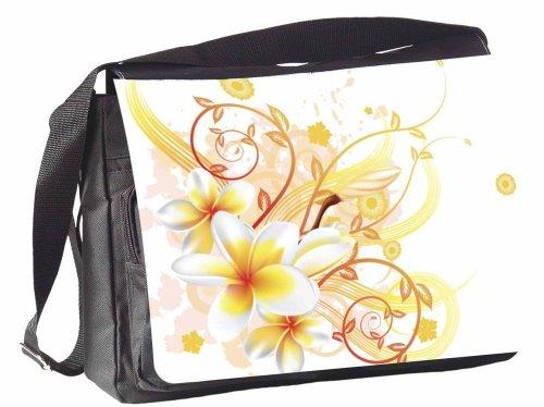 KlebeSpatz® / Motiv Schultertasche Mailand Blume gelb AH5TJK