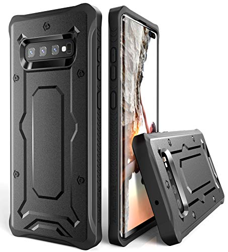 Galaxy S10+ Plus Case - ArmadilloTek [Urban Ranger] Lightweight TPU Bumper Shock Absorption Solid Anti-Slip Cover for Samsung Galaxy S10+ Plus [Not S10 or S10e] - Black
