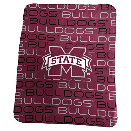 Logo Brands NCAA Mississippi State Bulldogs Classic Fleece, One Size, -