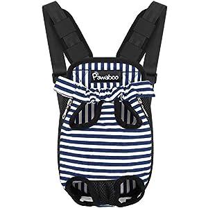 Pawaboo Pet Carrier Backpack, Adjustable Pet Front Cat Dog Carrier Backpack Travel Bag, Legs Out, Easy-Fit for Traveling…