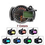Etbotu Motorcycle Digital Speedometer LCD Gauge Speedometer Tachometer Odometer Instrument