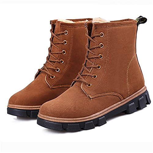 Red Fabric Fluff for ZHZNVX Booties Women's Winter Black Flat Brown Lining Fall Snow Brown Boots Boots Shoes Outdoor HSXZ Gray Ankle Casual Boots qxqUZwtY