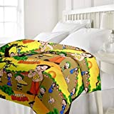 ZGX Single Bed Ac Blanket Dohar/Quilt Cartoon Print, Fabric - Micro Cotton, Size -54X84 Inches - Multi Color (Multi Color 1)