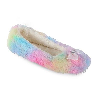 Ladies Pretty Pastel Rainbow Cosy Soft Faux Fur Plush