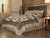 Black and Tan Comforter Sets King Appalachian Star 3 Piece KING Quilt Set