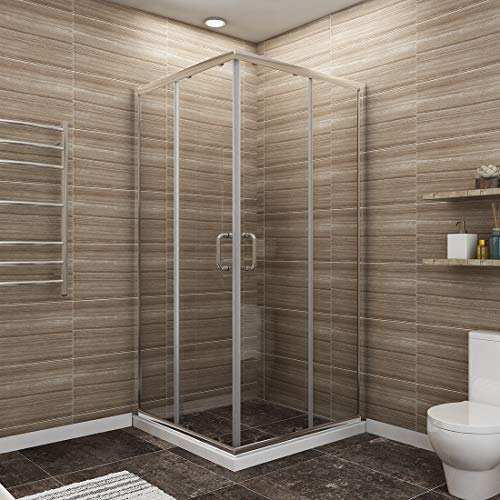 Why Should You Buy SUNNY SHOWER 36 X 36 X 72 Double Opening Corner Shower Doors 1/4 Clear Glass ...