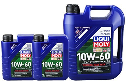 Liqui Moly 2024 2068 Synthoil Race Tech GT1 10W-60 Motor Oil - 7 Liter Value Pack