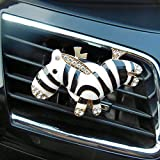 zebra car accessories interior - uzhopm 1Pair Cute Zebra Car Auto Air Outlet Clip Decor Car Accessories (1 pair black)
