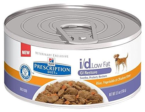 Low Fat Canine (Hill's Prescription Diet i/d Canine Low Fat Gastrointestinal Restore - Rice, Vegetable & Chicken Stew - 24x5.5oz)