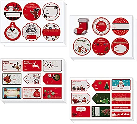 Mewtogo 240pcs Self Adhesive Christmas Gift Tag Stickers Xmas Present Name Tag Labels For Holiday Gift Bag Wrap Tags Buy Online At Best Price In Uae Amazon Ae